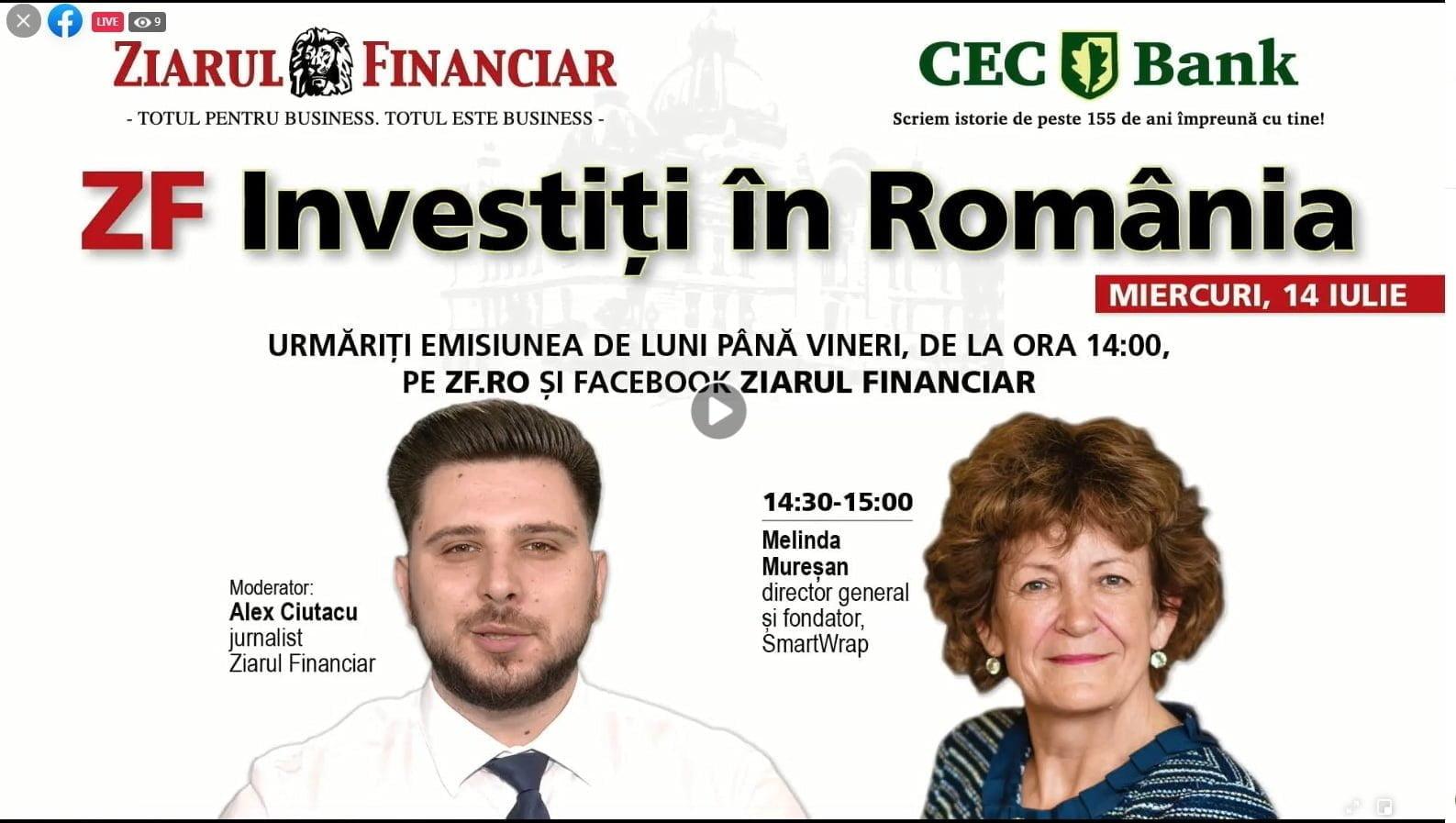 Interviu în Ziarul Financiar cu Melinda Mureșan